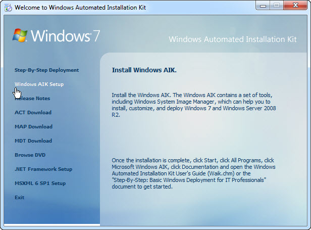 Welcome to Windows Automated Installation Kit